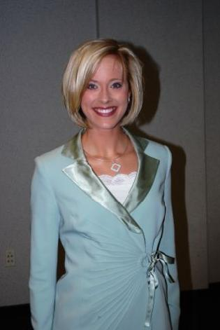Jill in her interview suit